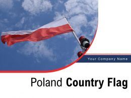 Poland Country Flag Illustration Representing National Republic Decorated European
