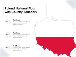 Poland National Flag With Country Boundary