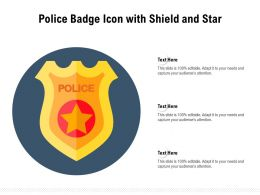 Police Badge Icon With Shield And Star