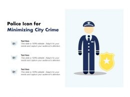 Police Icon For Minimizing City Crime