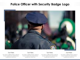 Police Officer With Security Badge Logo