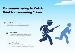 Policeman Trying To Catch Thief For Removing Crime