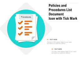 Policies And Procedures List Document Icon With Tick Mark