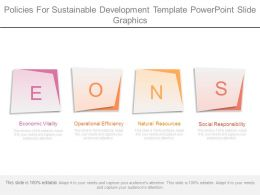 Policies For Sustainable Development Template Powerpoint Slide Graphics