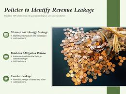 Policies To Identify Revenue Leakage