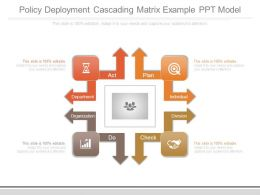 Policy Deployment Cascading Matrix Example Ppt Model