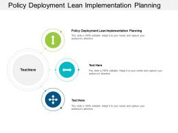 Policy Deployment Lean Implementation Planning Ppt Powerpoint Presentation Layouts Designs Cpb