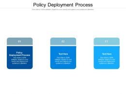 Policy Deployment Process Ppt Powerpoint Presentation Styles Inspiration Cpb