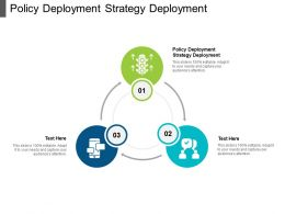 Policy Deployment Strategy Deployment Ppt Powerpoint Presentation File Icons Cpb