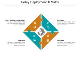 Policy Deployment X Matrix Ppt Powerpoint Presentation Pictures Diagrams Cpb