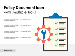 Policy Document Icon With Multiple Ticks