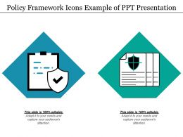 Policy Framework Icons Example Of Ppt Presentation