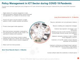 Policy Management In ICT Sector During COVID 19 Pandemic Error Ppt Powerpoint Presentation Icon Show