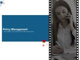Policy Management Key Policies To Avoid COVID In Film Production M1501 Ppt Powerpoint Presentation Ideas Skills