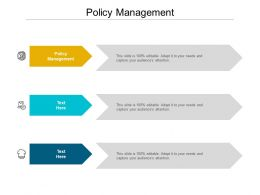 Policy Management Ppt Powerpoint Presentation Layouts Objects Cpb