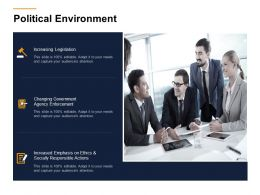 Political Environment Ppt Powerpoint Presentation Show Icons