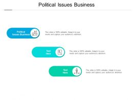 Political Issues Business Ppt Powerpoint Presentation Professional Example Cpb