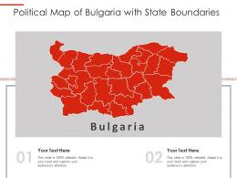 Political Map Of Bulgaria With State Boundaries