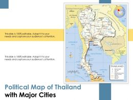 Political Map Of Thailand With Major Cities