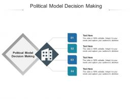 Political Model Decision Making Ppt Powerpoint Presentation Styles Infographics Cpb