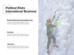 Political Risks International Business Ppt Powerpoint Presentation Inspiration Background Images Cpb