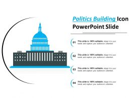 Politics Building Icon Powerpoint Slide