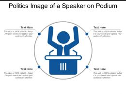 Politics Image Of A Speaker On Podium