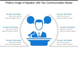 Politics Image Of Speaker With Two Communication Boxes
