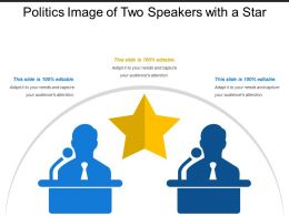 Politics Image Of Two Speakers With A Star