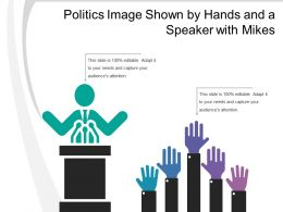 Politics Image Shown By Hands And A Speaker With Mikes