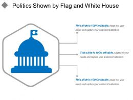 Politics Shown By Flag And White House