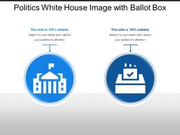 Politics White House Image With Ballot Box