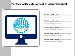 Politics With Vote Appeal In Advertisement