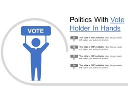 Politics With Vote Holder In Hands