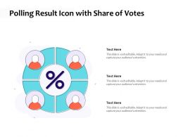 Polling Result Icon With Share Of Votes
