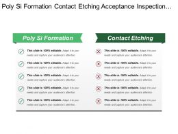 Poly Si Formation Contact Etching Acceptance Inspection Sheet Resistance