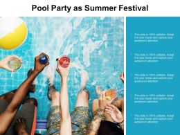 Pool Party As Summer Festival