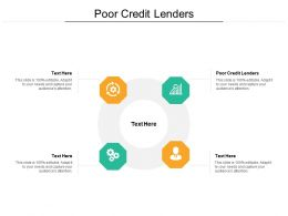 Poor Credit Lenders Ppt Powerpoint Presentation Outline Graphics Template Cpb