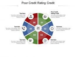 Poor Credit Rating Credit Ppt Powerpoint Presentation Show Designs Cpb