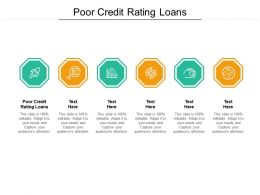 Poor Credit Rating Loans Ppt Powerpoint Presentation Styles Grid Cpb
