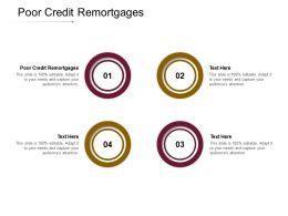 Poor Credit Remortgages Ppt Powerpoint Presentation Deck Cpb