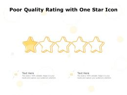 Poor Quality Rating With One Star Icon