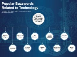 Popular Buzzwords Related To Technology