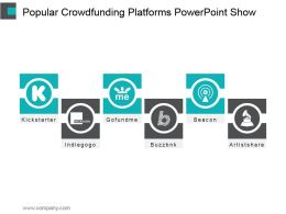 Popular Crowdfunding Platforms Powerpoint Show