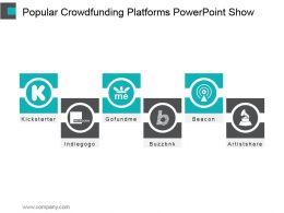 Popular Crowdfunding Platforms Powerpoint Show