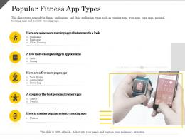 Popular Fitness App Types Ppt Powerpoint Presentation Pictures Templates