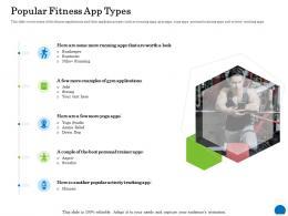 Popular Fitness App Types Ppt Powerpoint Presentation Portfolio Examples