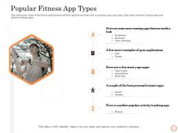 Popular Fitness App Types Wellness Industry Overview Ppt Layouts Smartart