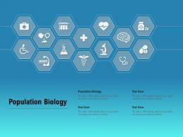 Population Biology Ppt Powerpoint Presentation Summary Master Slide