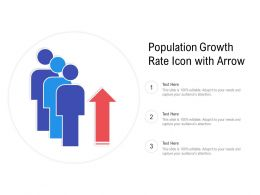 Population Growth Rate Icon With Arrow
